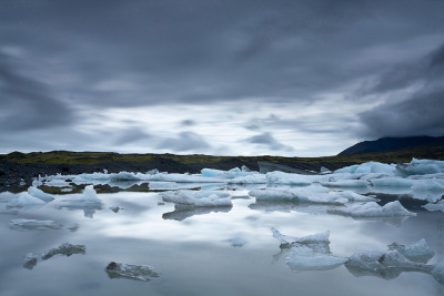 Glacial Lagoon (Long Exposure) - Fjallsárlón (Rte 1) - Iceland by Nonac_eos on Flickr.