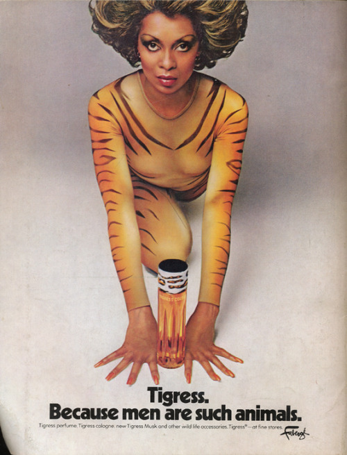 hollyhocksandtulips:  Lola Falana, Faberge Tigress advertisement, 1975