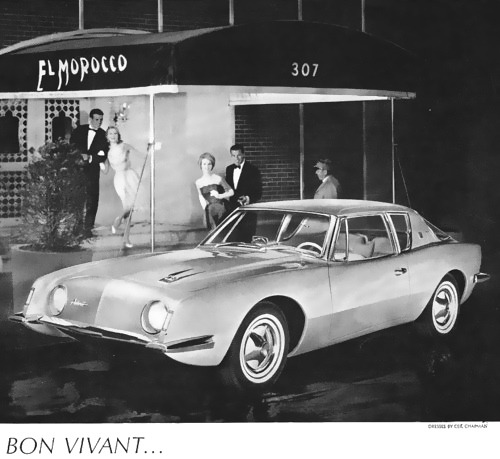 hollyhocksandtulips:  Avanti car advertisement, 1960s