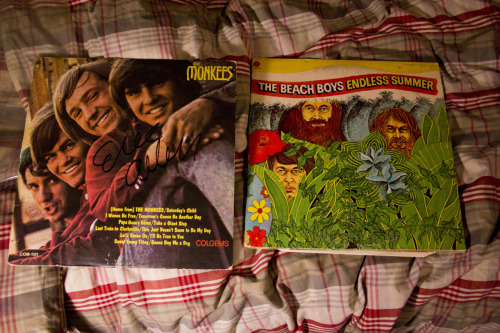 Today's surprising thrift store finds: Two records from people I've actually heard of, the Beach Boys and the Monkees.  The actual Monkees! I know, I was surprised too, You find tons of Barbra Streisands and Roger Williams', but never the Beach Boys, let alone the Monkees.  —Jacob