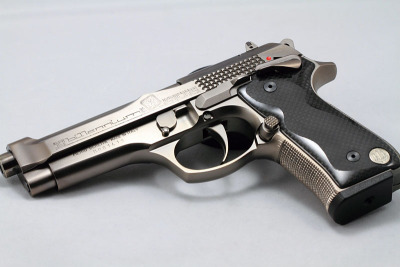 gunrunnerhell:  Beretta 92 Billennium (A custom limited edition Beretta handgun to commemorate the new millennium. Only 2000 were made.)