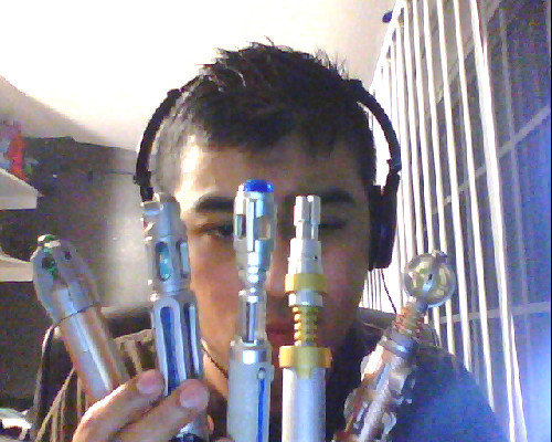 crayongiraffe:  I have so many sonic screwdrivers, one is a laser though. What am I doing with my life?