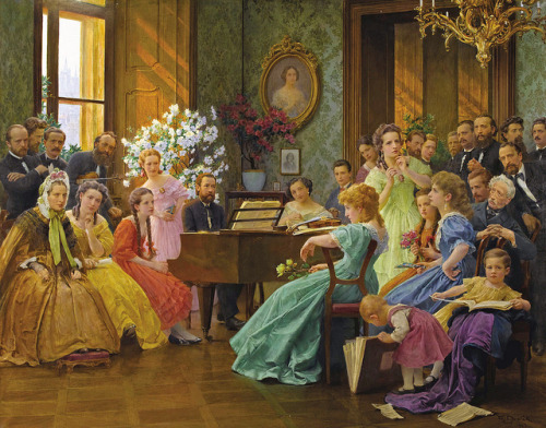 romantisme1812:  Franz Dvorak, Bedrich Smetana And His Friends (1865).