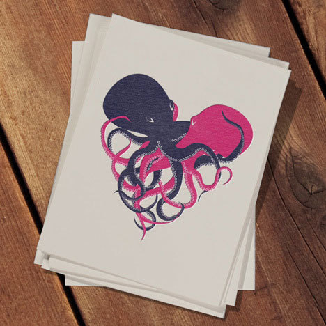 Squirm Card Design by Christina Piluso. Printed on Pearl White Crane Lettra Letterpress 110 lb. Cover. Available here. via: MAG.WE AND THE COLORFacebook // Twitter // Google+ // Pinterest
