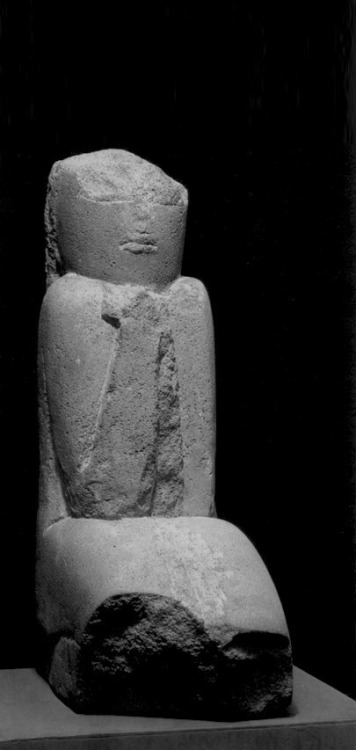 nothingpersonaluk:  Constantin Brancusi : Ancient Figure (Wisdom)  1906-08 (edited)
