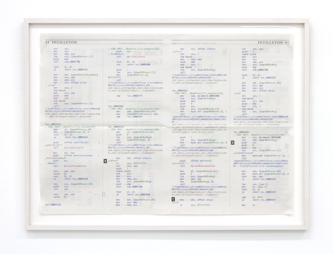 Aram Bartholl, How To Turn Code Into Art, 2011