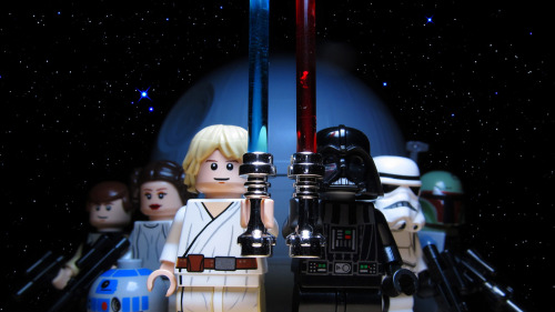 Lego Star Wars Artist note: Had a request for a recreation of the old Lego Star Wars cartoon logo that used to be on the old boxes.  Image by Smokebelch