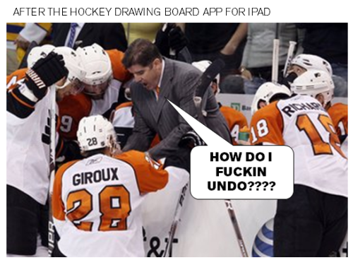 fuckyeahhockey:  hockey drawing board app for iPad revolutionizes coaching. #3