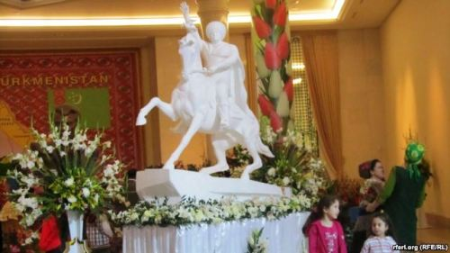 "@azathabar: First Statue Appears of Turkmenistan's (Latest) Autocratic President  It took five years, but the first statue of Turkmenistan's autocratic President Gurbanguly Berdymukhammedov has appeared in Ashgabat.The white equestrian statue depicts Berdymukhammedov clad in the attire of a traditional Turkmen tribal chief, astride his horse and with a dove — a symbol of luck in Turkmen culture — near his raised right hand.The dove is inscribed with a poem, called ""My White Dove,"" that was dedicated to Berdymukhammedov and has been recited on state television and appeared in other official media…[READ MORE]"