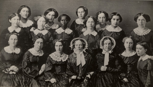 Happy International Women's Day! Here's a photo of the women in the class of 1855 courtesy of the Oberlin College Archives. What Oberlin women inspire you?