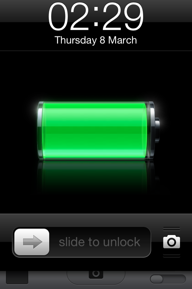 iOS - If you tap the camera icon in the lock screen of iOS 5.1, it bounces up to encourage you to slide. Jack Bingham