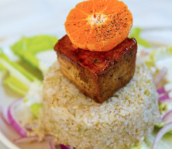 Orange Cube Tofu Salad