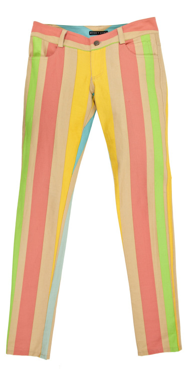Candy coloured striped jeans by alice + olivia…almost edible!
