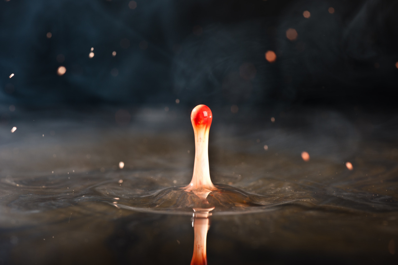 Water and Fire, water droplet photo.  Image is copyright property of Nicholas Adams (www.nicholas-adams.co.uk)