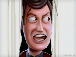 "Heeeere's Woody!""Toy Shining"" iPad painting by Kyle Lambert (portfolio)"