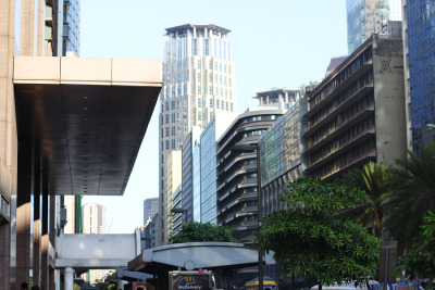 "Blogged on Draft of Shadows: ""Ayala Avenue afternoon""."