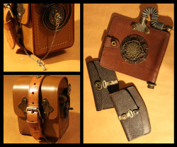 Steampunk Portal Leather Wallets