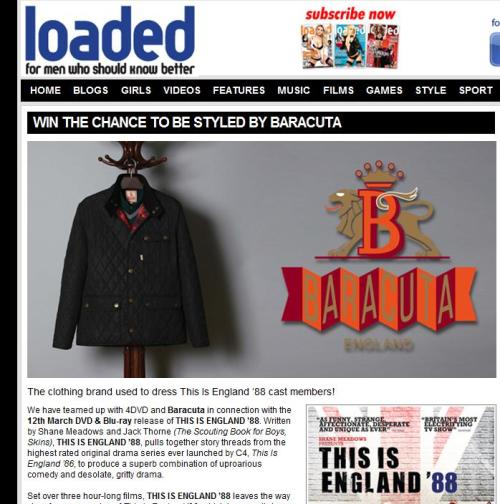 New Baracuta competition on loaded! To enter click here