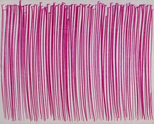 "Aubrey Penny  ""Middelharnis Series Two"" [purple] pastel on paper, 1980,"