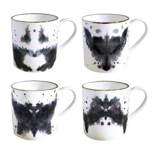 mezasaurusrex:  Ink Blot Mugs from www.culturelabel.com  sLimManiac: John Wayne Gacy/A Wolf An Angry Moth/The Batman I'm thinking I'm disturbed….