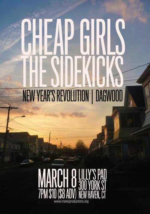I'm going to try to attend this tonight. I've been spinning Cheap Girls' new record Giant Orange a lot lately, so it should be a good time. If I can attend, I'll be sure to take pictures and post them tomorrow, possibly along with a review. If you see me at Lilly's Pad tonight, feel free to say hi. Also, this flier doesn't say so, but New York's Timeshares are also scheduled to play this show.