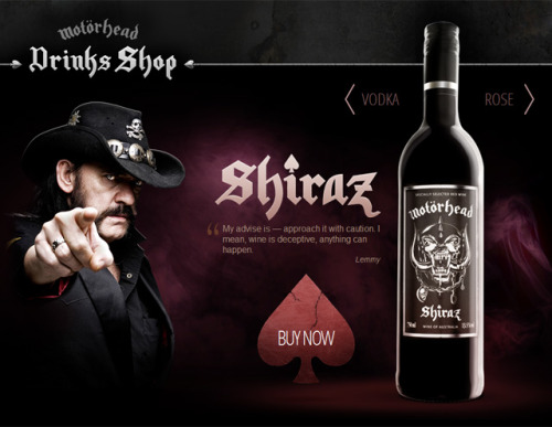 laughingsquid:  Motörhead Launches Line of Wine and Vodka