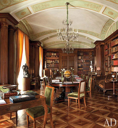 georgianadesign:  Studio Peregalli in Naples, Italy. AD.  This is so stately … so … glorious!