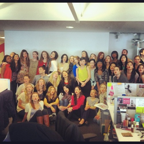 Happy International Womens day #rockthelips (Taken with Instagram at Birchbox HQ)
