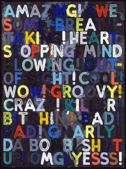 Mel Bochner, Amazing, 2011. Courtesy of Two Palms.