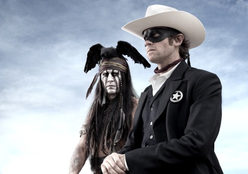 We just got this 'Lone Ranger' first look photo from Disney. Armie Hammer plays the Lone Ranger Jon Reid, and Johnny Depp is Tonto. The film is slated for a 2013 release so they're just getting started on this one. What do you think of the classic duo's 21st century update?