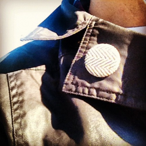 Tweed badge curtesy of @rickshawbags (Taken with instagram)