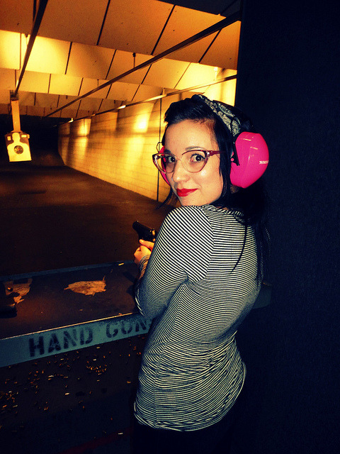 dat at the range on Flickr. #rockthelips for womens day!