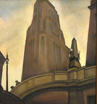 Todros Geller painting, Michigan Ave Bridge, c.1930. Chicago. Geller is mostly known for his wood engravings of Chicago and Judaica, but this painting has to be one of my favorites.
