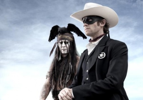 "Oh hey, look, here's a not-at-all problematic photo from the new Lone Ranger movie. (Yes, that's Johnny Depp there on the left.)  Related! Sherman Alexie's essay ""I Hated Tonto (Still Do)"" (via Disney's 'The Lone Ranger' — Johnny Depp And Armie Hammer On Set In First Look)"
