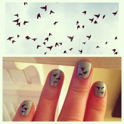 Spring birds in flight #manicure