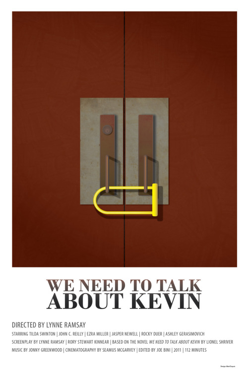 minimalmovieposters:  We Need To Talk About Kevin by Matt Dupuis  I didn't really like this movie. Which was disappointing because I think the plot was solid. I think I just didn't like the acting. Anyways, this poster is nice regardless.