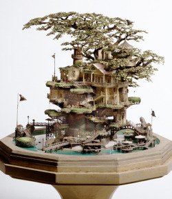 Bonsai tree houses by Takanori Aiba. More here.