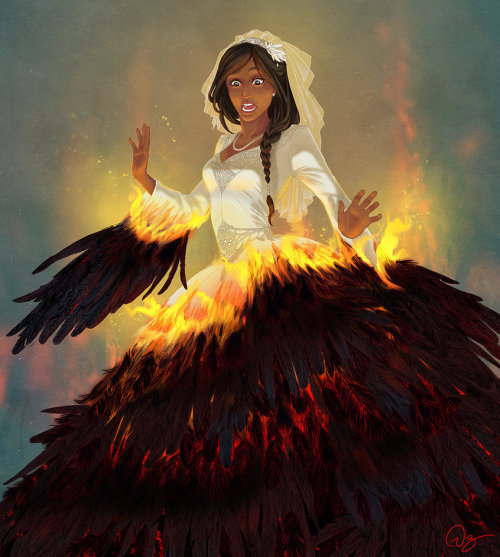 girlsbydaylight:  Katniss on fire by *palnk