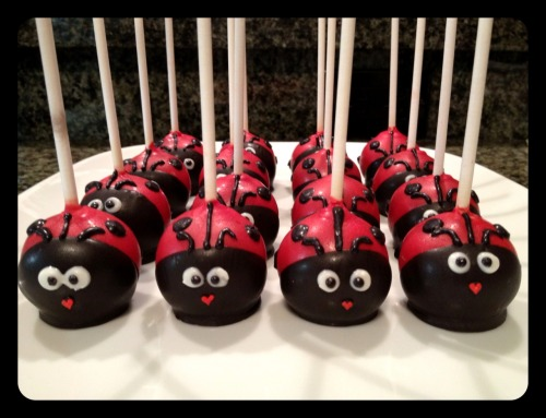 "i made these lovely lady bugs for my niece's birthday too!  they were gobbled up in seconds!!!  to see more of my creations, go to my Lollicakes Facebook page.  If you like what you see, feel free to click ""Like""!  thanks for reading! xoxo, sticky dumpling"
