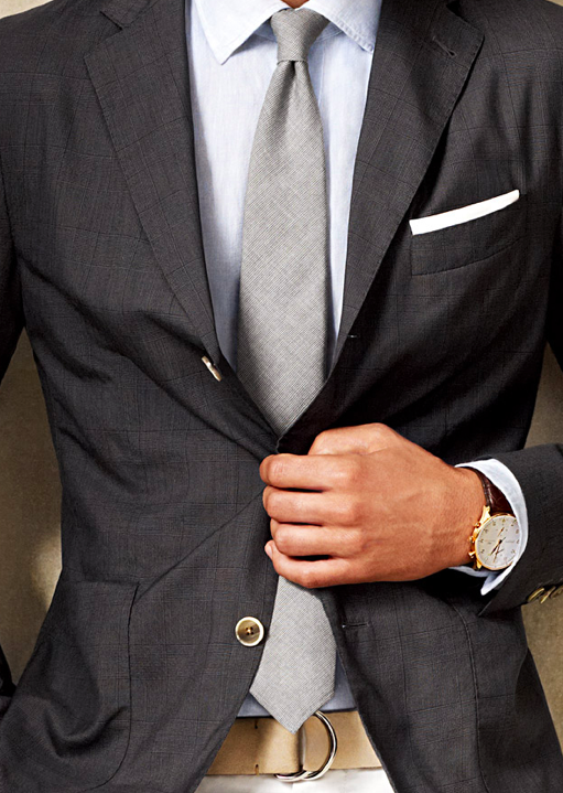 The fit and color combo's are absolutely perfect.. tailored, yet worn with a chino for a casual look. Right on.