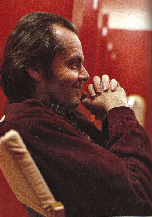 Jack Nicholson on the set of The Shining (1980)