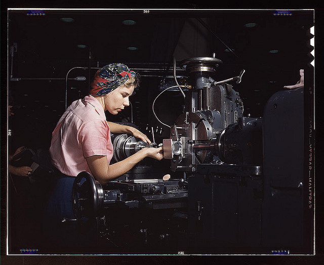 Woman machinist, Douglas Aircraft Company, Long Beach, Calif. (LOC) by The Library of Congress on Flickr.