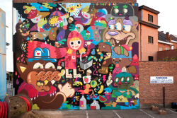 Oli-B, Pest, Billy & Buë by buethewarrior on Flickr.Street Art Machin! Bue The Warrior!