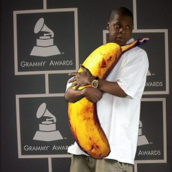 Jay-Z got 99 problems, but a banana ain't one. #rapperswithbananas @brentgohde @bb_mke @mjwizzy (Taken with instagram)