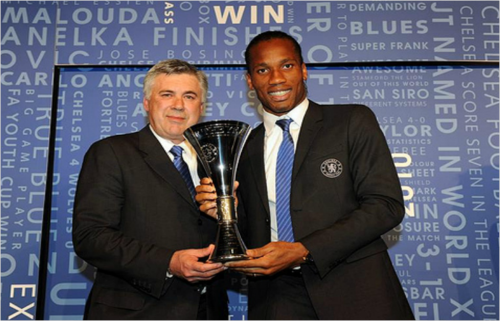 King Carlo and Didi with his Player of the year trophy ( 2010 )