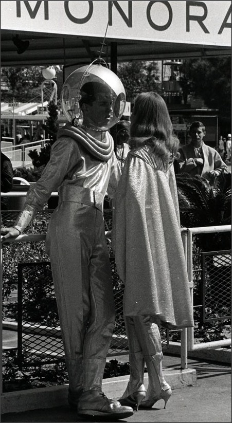 Spaceman and Spacegirl    Disneyland c.1950s