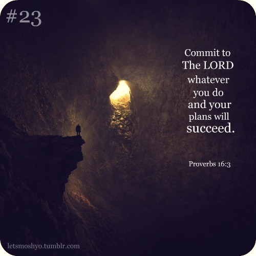 "spiritualinspiration:  Commit to the Lord whatever you do and your plans will succeed (Proverbs 16:3)  In order to fulfill your destiny, you have to make a plan according to God's purposes and stay focused to fulfill that plan. Wake up each day knowing where you're headed, which direction you are taking and what you are going to accomplish —- and then stick with it! Don't allow the distractions and business of life get you off course. Ask yourself, "" Is what I am doing moving me towards my God-given destiny? Is this my purpose in life or am I just wasting time being busy and not really making any progress?"" Proverbs 4:25 says, "" Keep your eyes fixed straight ahead. Don't look to the left and don't look to the right."" Don't be distracted and spend your time and energy on things that are not helping you fulfill your destiny.  Remember, God's plans are blessed, and as you walk in His plan for your life, you will experience His abundance in everything you set your hand to!"