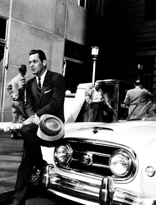 William Holden on the set of Sabrina, October 1953.
