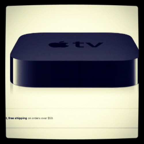 The #iPad wasn't upgraded enough for me to want to buy one, but the Apple TV looks sweet! (Taken with instagram)
