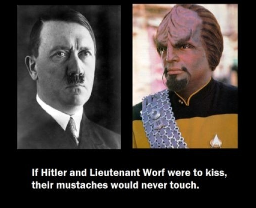 cannotunsee:  Adolf Hitler and Lieutenant Worf